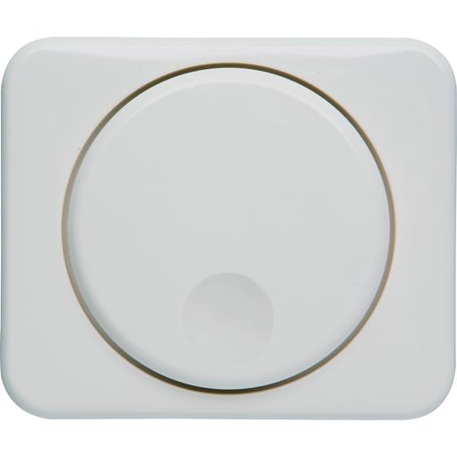 Abdeckung für elektronischen Dimmer mit Drehknopf und Zentralplatte